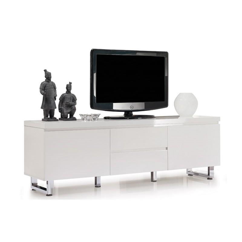 White High Gloss Tv Unit Part - 30: Sena-Furniture