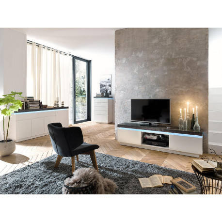 Atena I - lacquered tv unit with LED lights
