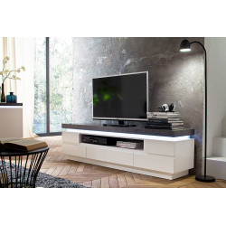 Atena II - lacquered tv unit with LED lights