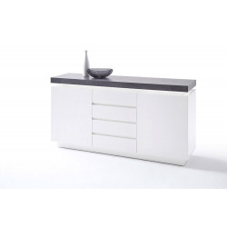 Atena - 150cm matt sideboard with LED lights