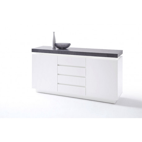 Atena - 150cm matt sideboard with LED lights