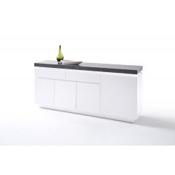 Atena II 175cm matt sideboard with LED lights
