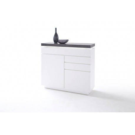 Atena IV - 120cm matt lacquered highboard with LED lights