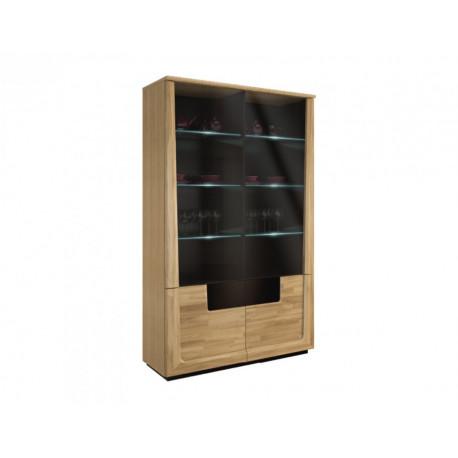 Maganda assembled large solid wood display cabinet