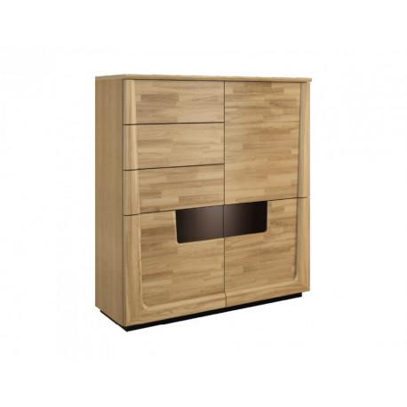 Maganda assembled solid wood bar cabinet