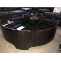 Ebony makassar coffee table with glass top