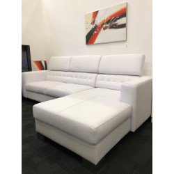 Caprice II Italian corner leather sofa- ex display