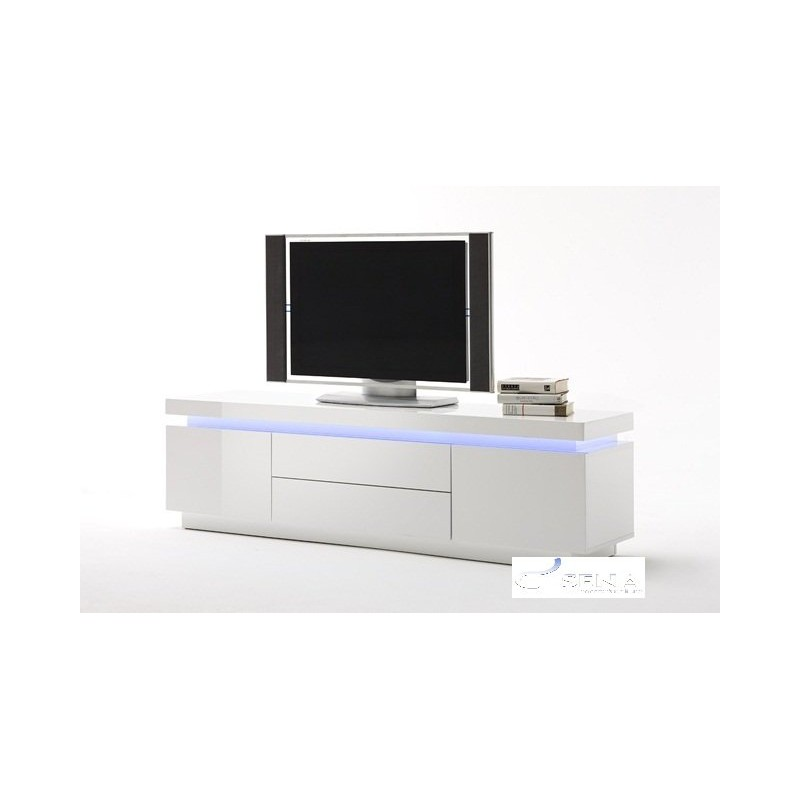 Led Tv Unit Furniture : ... gloss TV stand with RGB lights - TV stands - Sena Home Furniture