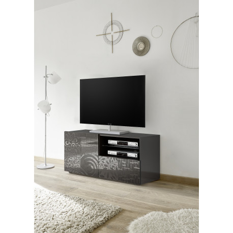 Miro 121 cm grey gloss decorative TV unit