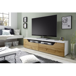 Fado solid oak and lacquer TV stand