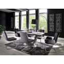 Lena III ceramic grey top extendable dining table