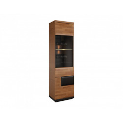 Vigo assembled solid wood narrow display cabinet