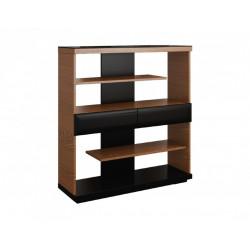 Vigo small bookshelf with drawers