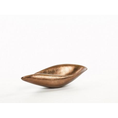 Abstract bowl in matt dusty cedar