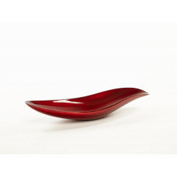Abstract bowl in warm red