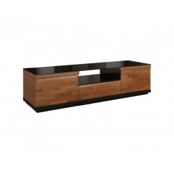 Vigo 163cm TV unit with glass top