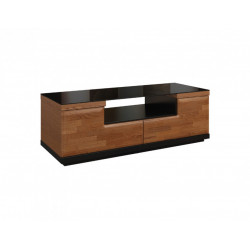 Vigo 122cm TV unit with glass top