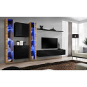 Switch II - modular wall display cabinet with LED lights