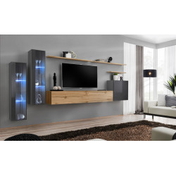 Switch IX - modular wall unit with LED lights