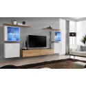 Switch XI - modular wall unit with LED lights