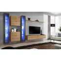 Switch XII - modular wall unit with LED lights
