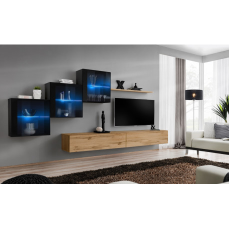 Switch XV - modular wall unit with LED lights