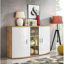 Jenny wooden and gloss finish sideboard
