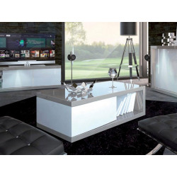 Arto white and grey gloss coffee table