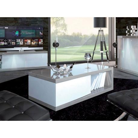674cfdac993d Arto white and grey gloss coffee table - High gloss furniture (3398) - Sena  Home Furniture