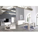 Arto white and grey gloss sideboard with LED lights