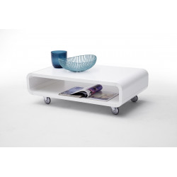 Amado- gloss coffee table with wheels
