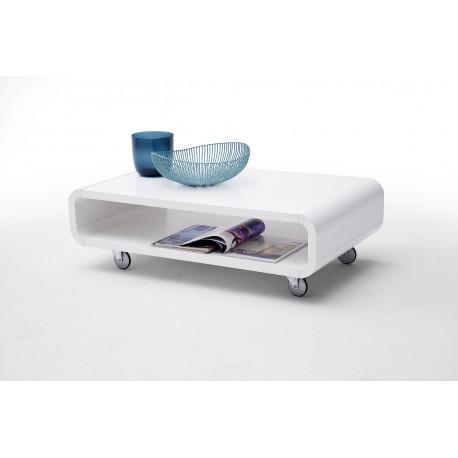 Amado- gloss coffee table with wheels