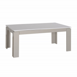 Arto white and grey gloss extendable dining table