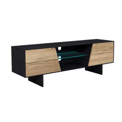 Ingo TV unit with oak fronts
