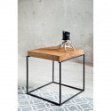 Loft side table with natural oak