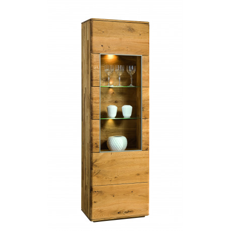 Dallas I assembled solid wood display cabinet in various wood option