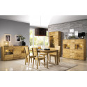 Dallas II assembled large solid wood display sideboard in various wood option