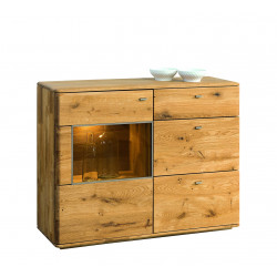 Dallas small assembled large solid wood sideboard in various wood option