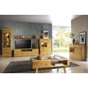 Dallas 180cm assembled solid wood TV unit in various wood option
