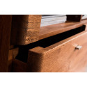 Dallas 120cm assembled solid wood TV unit in various wood option