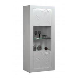 Karma white gloss display cabinet with led lights
