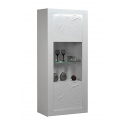 Samba white gloss display cabinet with led lights