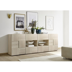 Diana 241cm sonoma oak sideboard with LED lights