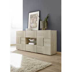 Diana 181cm sonoma oak sideboard with LED lights