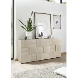 Diana 181cm three doors sonoma oak sideboard