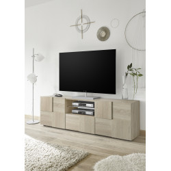 Diana 181cm sonoma oak TV Unit with LED lights