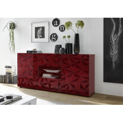 Prisma 181 cm red gloss decorative sideboard