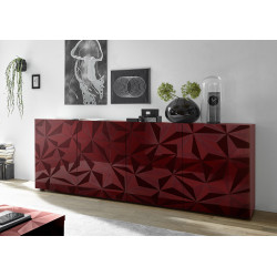 Prisma II 241 cm red gloss decorative sideboard