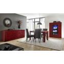 Prisma II 241 cm red gloss decorative sideboard