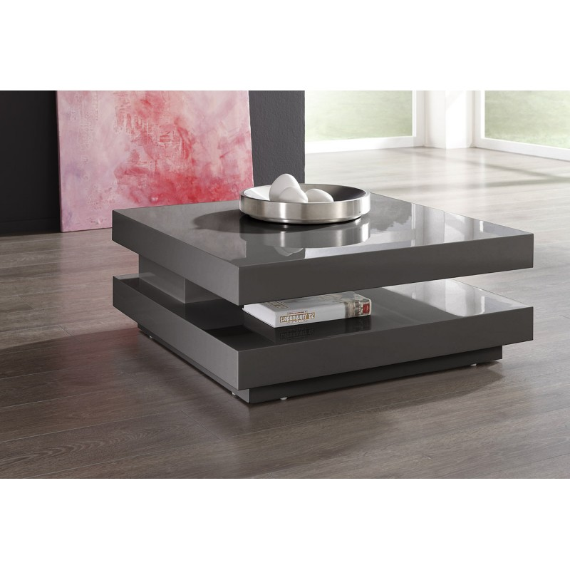 Annika White Gloss Coffee Table: Halo White High Gloss Coffee Table